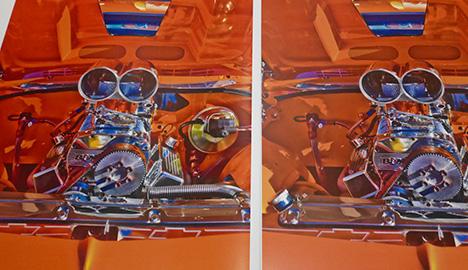 写真3. ColorUp機能を使ったサンプル(向かって左側)
